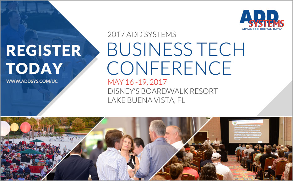 ADD Systems Customers: Don't Miss the 2017 Business Tech Conference!