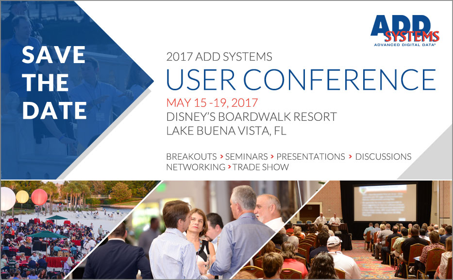 Blog: Save The Date! 2017 ADD Systems User Conference